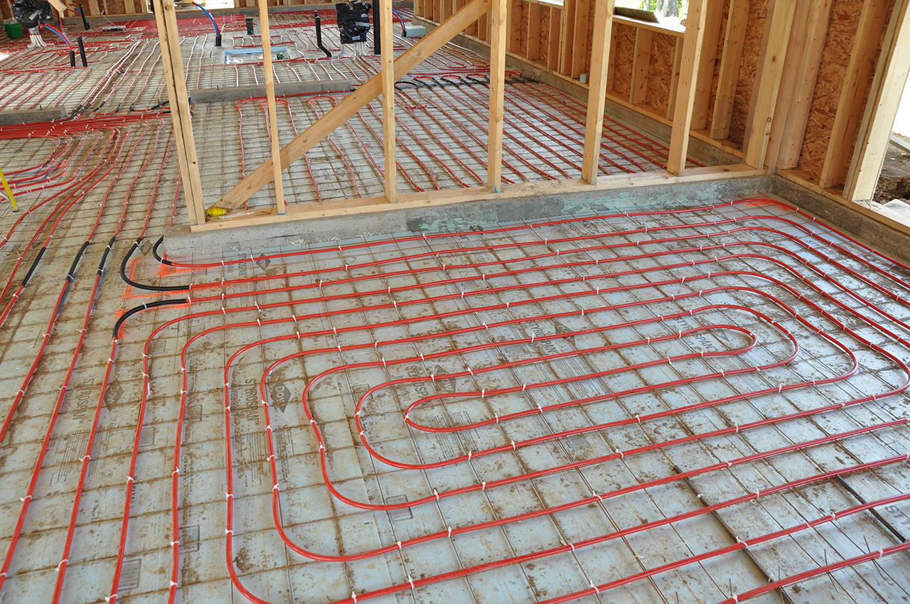 Net zero geothermal solar vancouver island bc for Best flooring for hydronic heat